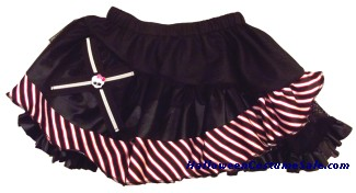 MONSTER HIGH RED BLACK STRIPE CHILD PETTISKIRT