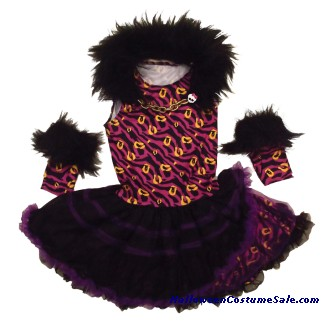 MONSTER HIGH PINK & BLACK DRESS CHILD COSTUME