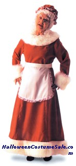 Mrs SANTA ADULT COSTUME - LONG DRESS