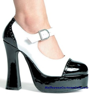 Shoe Saddle Blk Wht