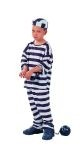 Convict boy costume includes top, hat & pants.