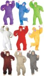 Gorilla Adult Costume (Plus Size) - Includes fur jumpsuit, latex mask, mitts, and feet.
