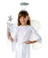 "Child Angel set includes 18"" Chiffon Wings and Tinsel Halo."