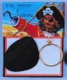 Pirate Satin Eye Patch & Earring