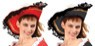 Velvet Pirate/Musketeer Hat. Adult Size.