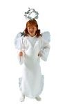 For the perfect little angel at home. Angel costume includes : Long white gown with attached wings and halo (wand not included).