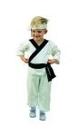 Li karate costume includes jumpsuit, sash & headband.