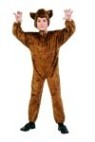 "This bear costume has multiple uses! You can use it as a ( bear,monkey,deer,dog,horse) just by adding a nose or mask. Great costume for school plays. Costume includes : Brown plush jumpsuit and headpiece. Also available in Toddler size: <A href=""/BROWN-BEAR--COSTUME---Toddler-Grp-123Z70075-Toddler.aspx"">Z70075-Toddler</A>."