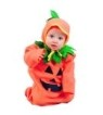 Pumpkin costume includes bunting costume with drawstring & hood.
