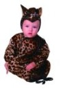 Baby Leopard costume includes bunting with hood. Made with velboa.