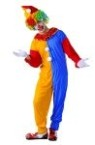 Circus Clown costume includes jumpsuit & hat. A beautiful traditional circus clown costume when matched with shoes (not included) and makeup and some ball juggling will get you rolling.<br>