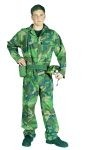 Camouflage commando costume includes jumpsuit & helmet.
