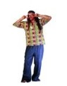 60s Male Hippie costume includes pants and top.
