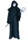 Hooded Robe - Black robe and oversized hood with collar.