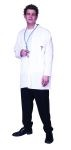 Doctor costume includes jacket with imprinted pocket & stethoscope.