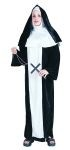 "Classic Nun costume includes gown & headpiece. Length: 55""-56"", chest - 44"", waist - 46"", hips - 48"", bottom of gown - 50"" ."