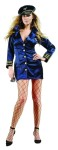 Flight Captain Adult Costume (Plus Size) - Includes button front dress & hat.