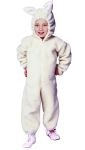 Ba-ba Lamb costume - Kids love to dress up in animal costumes. This adorable child ba-ba lamb costume includes plush white jumpsuit and headpiece with attached lamb ears. Great lamb or sheep costume for christmas plays and live nativity scenes.