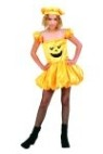 Pumpkin Puff costume includes puff skirt dress & hat.