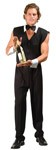 "Chip the Bartender Costume includes Lined Vest, Black Pants, White Collar with Black Tie and White Cuffs. Made of Poly Poplin. Costume also available in Plus Size (<a href=""/Chip-the-Bartender-Costume---Plus-Size-Grp-123z85401.aspx"">Z85401</a>)."