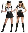 Nation Wide Police Adult Costume (Plus Size) - Includes dress, vinyl belt, hat and handcuffs. Also available in SM, MD, LG Size (z81443)