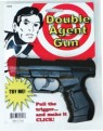 Double Agent Gun - Heavy, hard plastic gun. Pull the trigger for a loud click. Measures 7 inches long x 5 inches high.