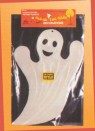 Glow In The Dark Plastic Ghost - Friendly glow-in-the-dark ghost made of durable, lightweight plastic. 18 inches tall and 11 1/2 inches wide.