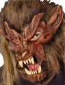 Lone Wolf Mask - Full over the head mask with latex front and plush fur head cover.