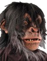 Chimp Mask - Full over the head latex mask with latex front and fur fabric head cover for cool, comfortable fit.