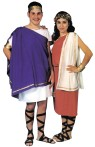 Toga Man Adult Costume - Costume includes gown and shoulder drape. Headband & shoes are not included. One size only.  Made of Poly cotton.