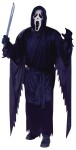 "Scream Adult Costume - The costume from the movie Scream includes Black polyester robe with long jagged-edged sleeves and attached hood. White vinyl face mask with comfortable elastic strap included. One size fits most men between 5 6"" and 6 tall, 140 to 200 lbs. Waist size 25"" to 38"", chest size 33"" to 45"". Also available in Plus Size: <a href=""/SCREAM-COSTUME-Grp-123AA158XL.aspx"">AA158XL</a>.<br><br>(c) Fun World Div., Easter Unlimited, Inc. 1993. All Rights Reserved. As seen in the motion picture Scream is (c) Miramax Film Corp., 1997. All Rights Reserved."