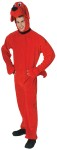 Clifford Adult Costume - Plush velour headpiece with matching attached jumpsuit. Fits most men up to size 44.