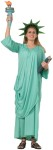 Statue of Liberty Adult Costume - Includes: Headpiece, dress with attached drape and sash. One size fits most.