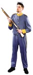 "Enlisted Adult Confederate Uniform - Grey tailored coat and pants with gold colored trim. Lightweight for ease and comfort. (Hat and weapon not included). L=38"" waist M=36"" waist S=32"" waist."