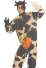 No Bull... youll win first prize at the costume party in this Adult Comical Cow Costume! Includes: Jumpsuit, headpiece and ofcourse the udder. (Gloves NOT included.)