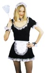 French Maid Set - Complete with lace trimmed apron, lace headband, two elasticized cuffs and a lace trimmed choker. (This does not the include the dress)