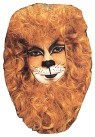 Lion Face Mask - Headpiece surrounds the face. Makeup is not included.