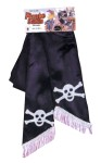 Pirate Sash - Long sash decorated with skull and crossbones.