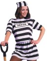 Adult Convict Woman Costume - Costume includes dress and cap. Made of polyester. Standard size, 10-14. (Convict numbers are not included.)