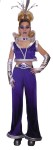 Galaxy Princess Adult Costume - Standard Size 12-14 Includes: Midriff top with stand up metallic collar, bell bottom pants with metallic 3-D trim, metallic gloveslets, neck choker with faux gem.
