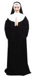 Nun Adult Costume - Attractive black knit robe with white bib and wimpie. Nice quality. Cross not included. One size.