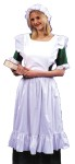 Pinafore Adult Costume - This white poly cotton pinafore adds that authentic flavor any long dress (not included) - old fashioned or victorian! Top it with the matching fabric white mob cap (included), to complete the old fashioned look. One Size Adult (Regular).