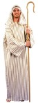 Shepherd Adult Costume - Cotton blend, striped, tunic style robe with matching headband. One size. (Shepherds Crook not included).