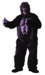 "<p>Adult Gorilla Suit w/ Chest - A Real Attention Getter! <span id=""lblDescription"">Plush black faux fur jumpsuit with attached rubber chest, full over-the-head latex mask with faux fur hood. Also includes matching hands and feet. One size fits most adults. </span>Banana not included. <span id=""lblDescription""></span></p>"