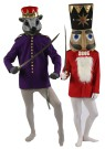 Nutcracker Adult Coat - 32 inch long, button up front coat with epaulets and standup collar. 100% polyester. Can be used as Mouse King coat as well. Special order item.