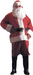 Adult Velour Santa Suit - with pile trim. Includes: Coat, pants, hat, belt, vinyl spats, beard & eyebrows. A great Value! One Size (42-48).