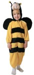 Child Bumble Bee Costume - Beautiful deluxe childrens costumes include: full body jumpsuit with zipper fornts and foam filled character head and wings attached!