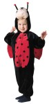 Ladybug Child Plus Adult Costume - Precious Lady Bug costumes for your little ones!  Includes: full body jumpsuit with zipper fornts and foam filled character head and wings attached!