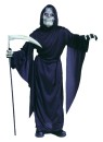 Child Horror Robe - One piece black taffeta robe. Includes black rope belt. Scythe not included.