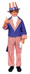 Uncle Sam Child Costume - Includes jacket with tails, pants and shirt front. Hat not included.